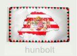 Farkasfogas árpádsávos Nagy- Magyarországos angyalos zászló