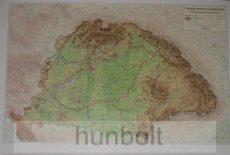 Kárpát-medence domborzata fóliázva 50x32 cm asztali könyöklő