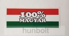 100% Magyar (6,5x16 cm) autós matrica.