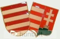 Páros címer jelvény (38x23 mm)
