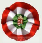 Kerek címeres kokárda (9 cm), 25 mm jelvénnyel