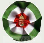 Eredeti kerek címeres kokárda (9 cm), 25 mm jelvénnyel