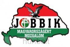 Jobbik Nagy-Magyarországos autós matrica (14x8,5 cm), külső