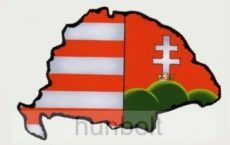 Árpádsávos  Nagy Magyarország hűtőmágnes