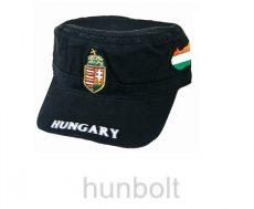 Militari sapka fekete címeres Magyarországos