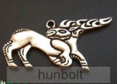 Csodaszarvas kulcstartó (40x20 mm) ezüst színű