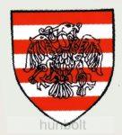 Rakamazi árpádsávos pajzs matrica (7,2*8 cm)