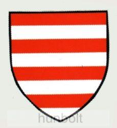 Árpádsávos pajzs matrica (7,2*8 cm)
