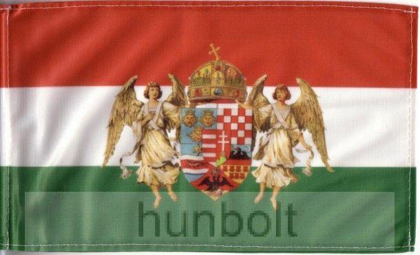 5bfefdb22f Kétoldalas nemzeti színű barna angyalos zászló hajóra (30X40 cm) zsinóros