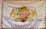 Kétoldalas farkasfogas barna angyalos zászló