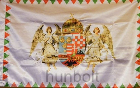 feb0e6282a Kétoldalas farkasfogas barna angyalos zászló - Magyaros termékek
