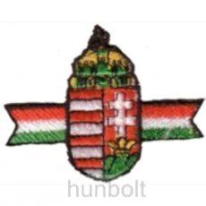 Felvasalható hímzett öves címer matrica (5*4,5 cm)