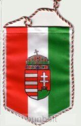 5 szögletű autós címeres zsinóros zászló