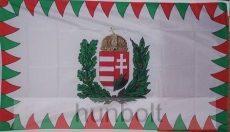 Farkasfogas címeres nyomott mintás zászló (90x150 cm)
