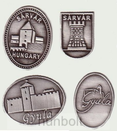 Egyedi városcímeres ónmatricák