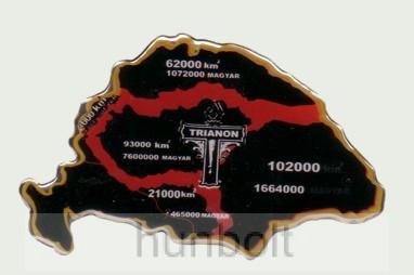 Műgyantás domború Trianon matrica 14X9 cm