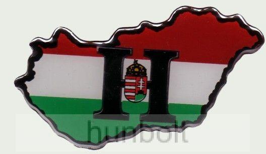 Műgyantás Magyarország címeres H hűtőmágnes (8,5X4 cm)