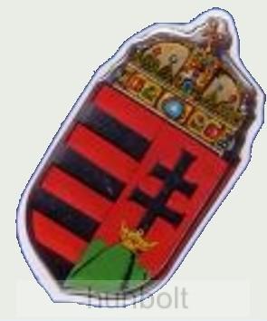 Műgyantás címer hűtőmágnes 5,5X2,5 cm