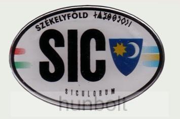 Műgyantás domború ovális SIC Székelyföld matrica 12x8,5 cm