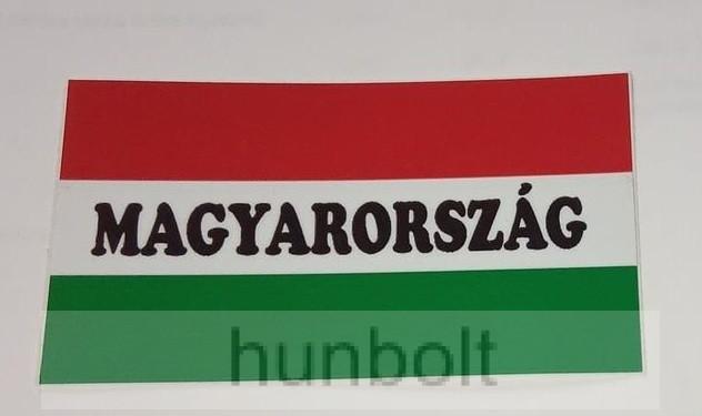 Nemzeti színű Magyarország felirattal matrica II. 10X5,5 cm