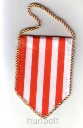 5 szögletű autós árpádsávos zászló arany zsinorral (5,5x10 cm)