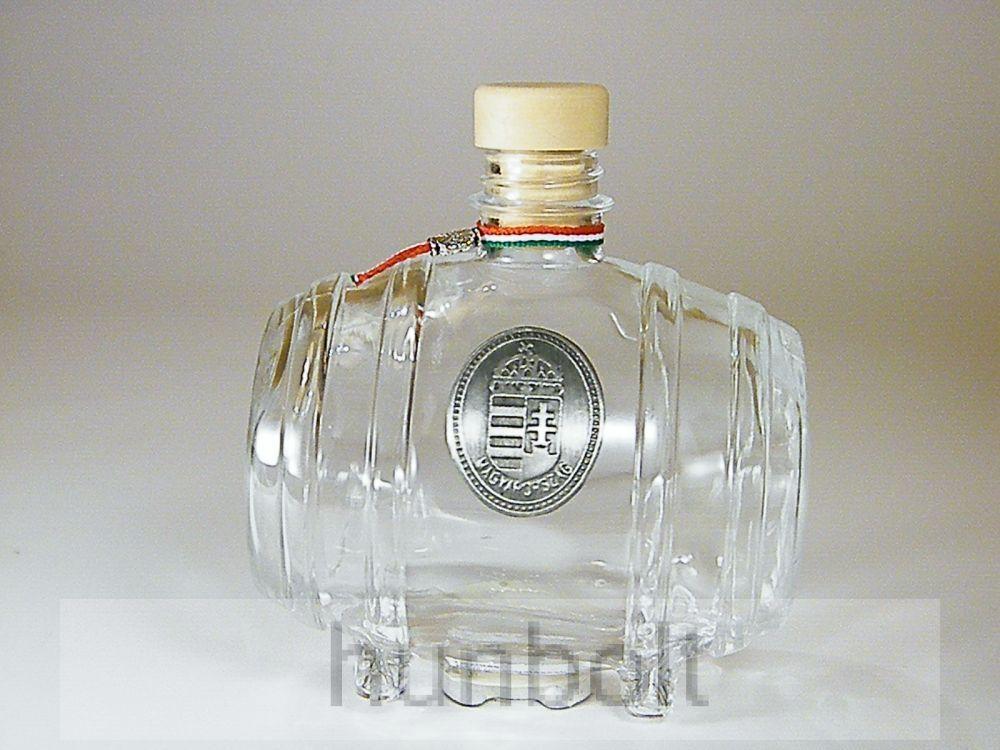 Üveghordó ón koszorús címerrel 0,5 liter