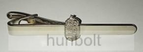 Ezüst címeres nyakkendőcsipesz ezüst színű
