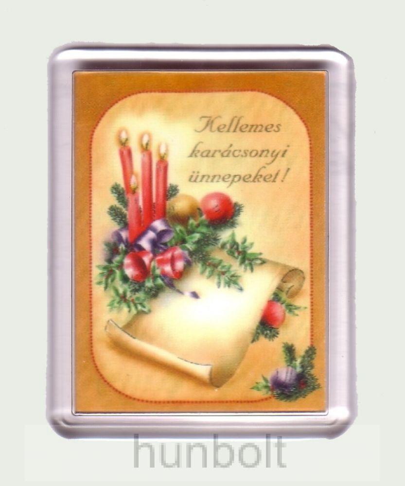 Karácsonyi hűtőmágnes II. (műanyag keretes)