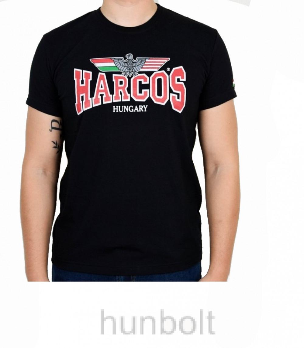 MAGYAR HARCOS fekete póló XL méret