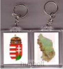 Image of 2 oldalas kulcstartó (címer+ Magyarország)