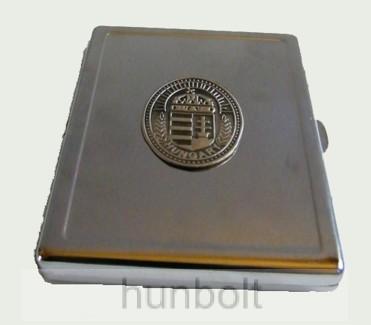 Cigarettatartó ón Nagy-Magyarország matricával, 10 szálas