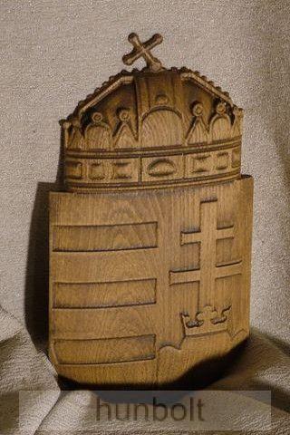 Faragott magyar címer, dió színben