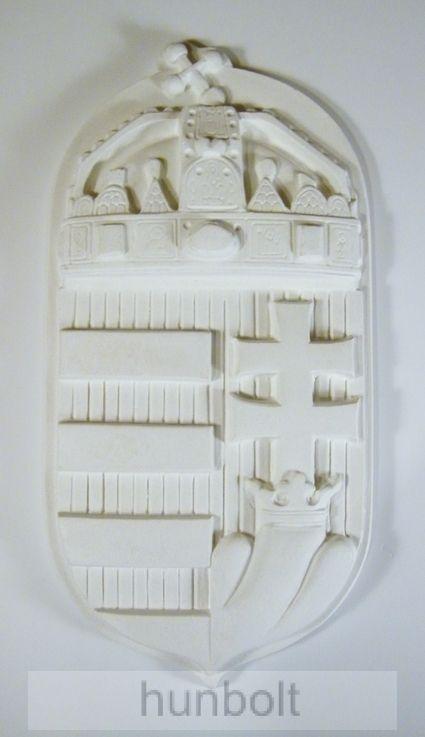 Címer fehér műkő 46x23 cm