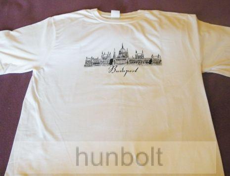Budapest - Parlament fehér póló XL méret- férfi