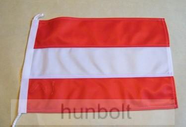Hajós, színenként varrott, zsinóros ausztria zászló (20X30 cm)