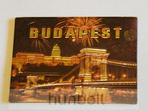Budapest Budai Vár és Lánchíd hütőmágnes, arany színű II.