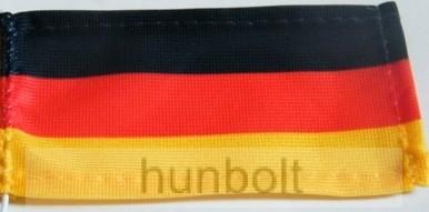 Német zászló 15x25 cm, 40 cm-es műanyag rúddal