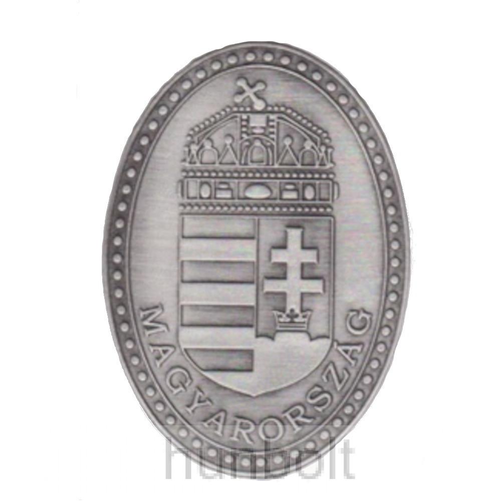 Címer, öntapadó ón matrica Magyarország felirattal (10X7cm)