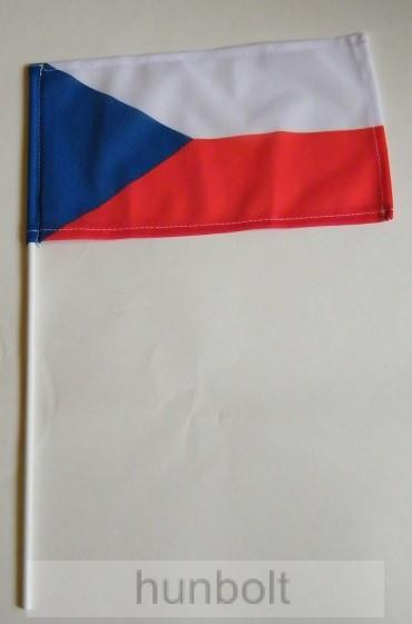 Cseh zászló 15x25cm, 40cm-es műanyag rúddal