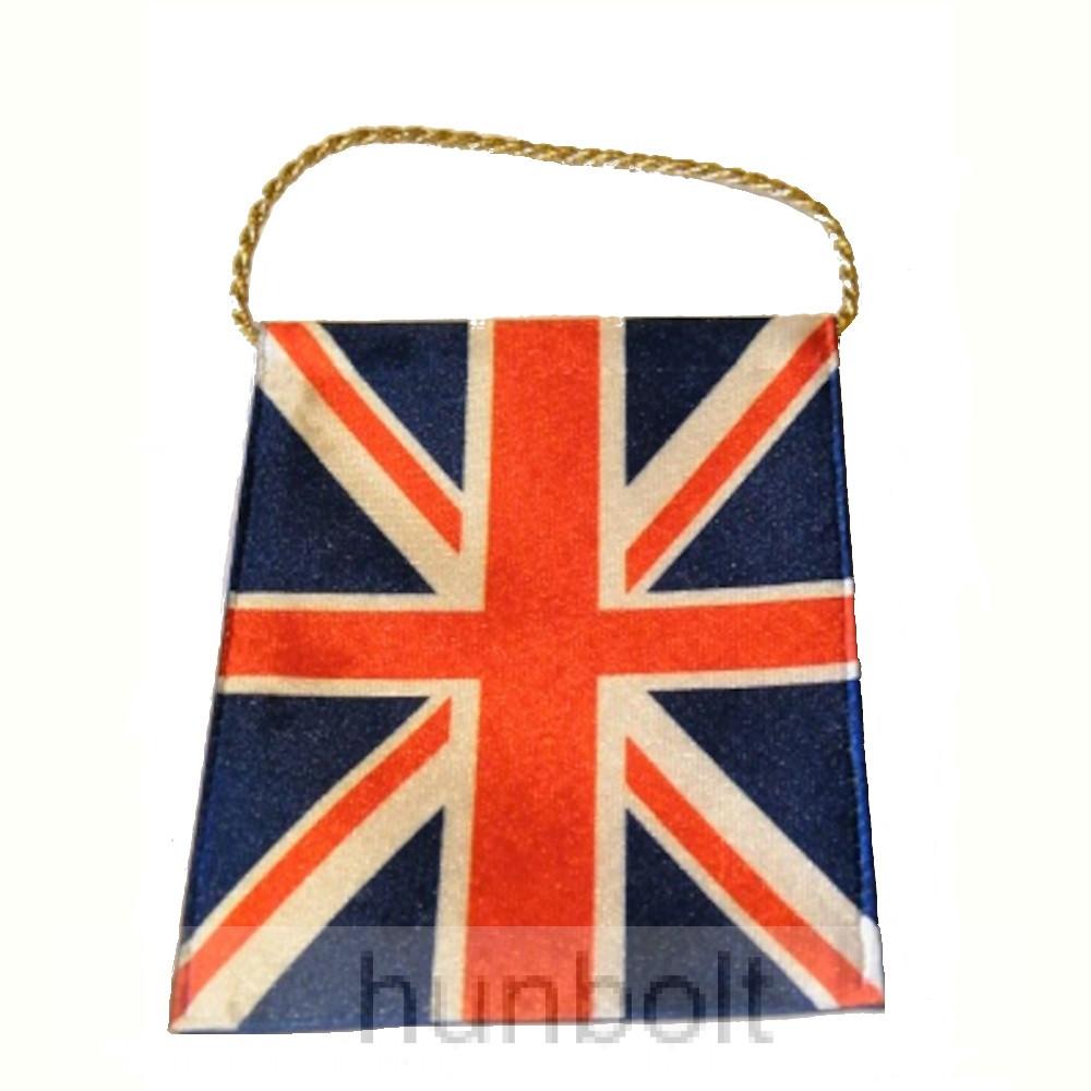 4 szögletű 10x15 cm Nagy-Britannia zászló, arany zsinórral