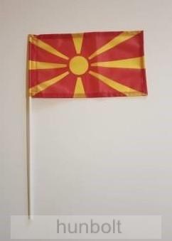 Macedón zászló 15x25cm, 40cm-es műanyag rúddal