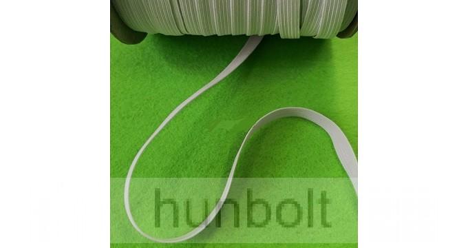 Lapos fehér gumiszalag 6 mm szélességű 10 méter /csomag