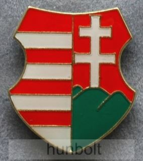 Kossuth címer jelvény 28 mm ezüst óriás