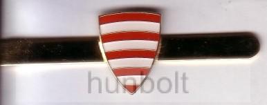 Árpádsávos nyakkendőcsipesz arany színű