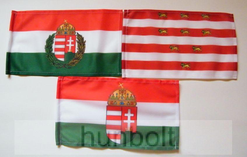 Image of 3 db kis zászló (15x25 cm) II.