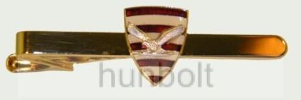 Árpádsávos pajzs nyakkendőcsipesz ezüst turullal