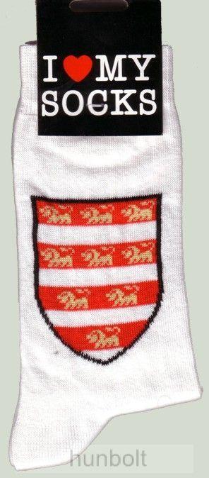 Árpádházi címeres zokni fehér 36-40