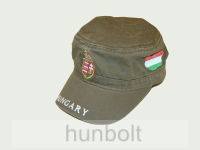 Militari sapka világos khaki, címeres Magyarországos