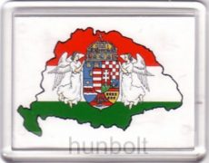Nagy-Magyarország fehér alapon hűtőmágnes (műanyag keretes)