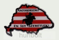 Műgyantás domború Nagymagyarország Magyarország én így.... Matrica 8,5X6 cm